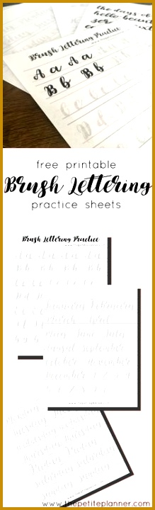 Free Printable Brush Lettering Practice Sheets including letters numbers days of the week 720219