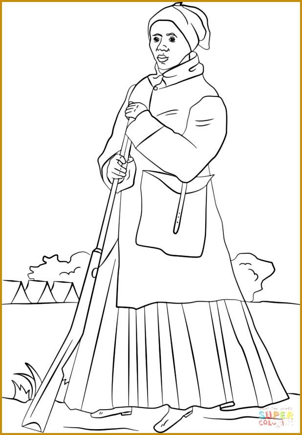 Harriet Tubman Coloring Page Free Printable Pages 890618