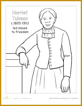 color harriet tubman worksheet education Rosa Parks Coloring Book Rosa Parks Coloring Book 361279