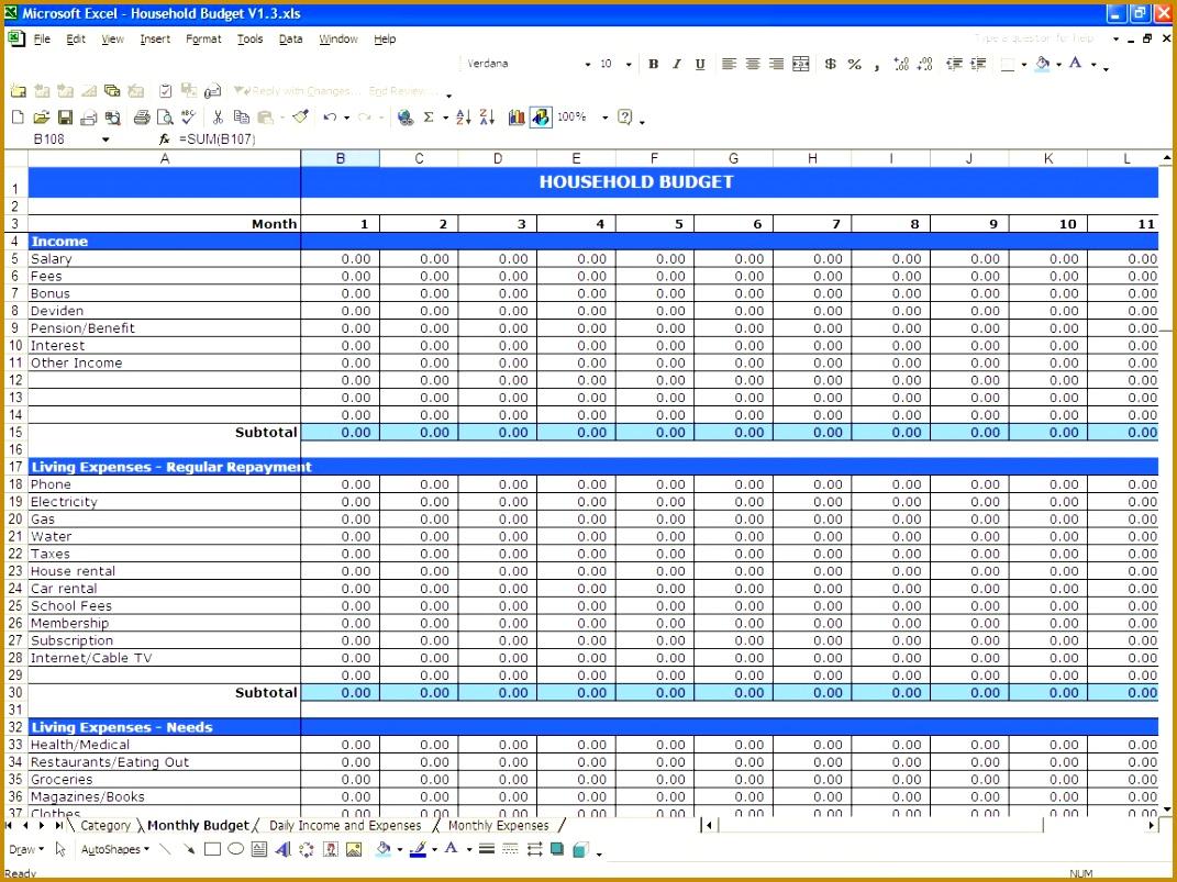 Free Expense Tracking Worksheet 8031071