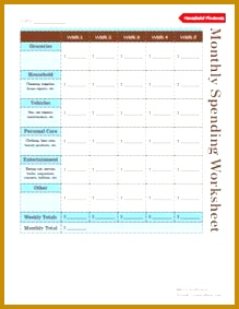 Household Bud Worksheet Kiplinger My Vision Financial Pinterest 283219