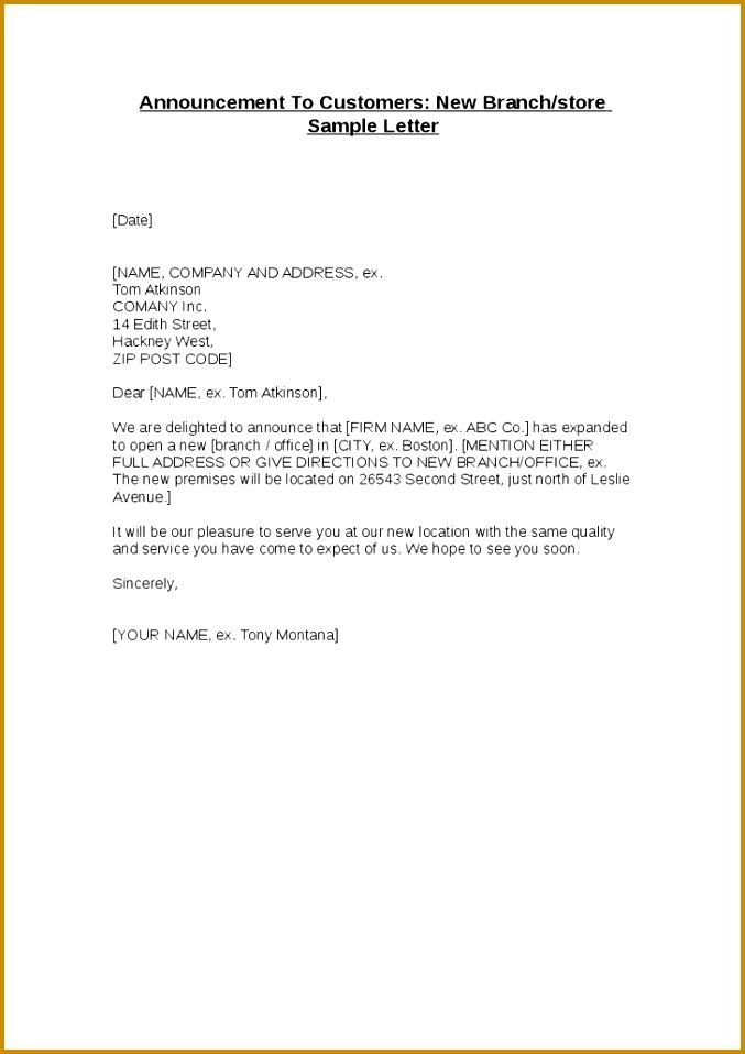 New Branch Opening Invitation Letter Denarius Branch Closing Letter Branch Closing Letter 958677