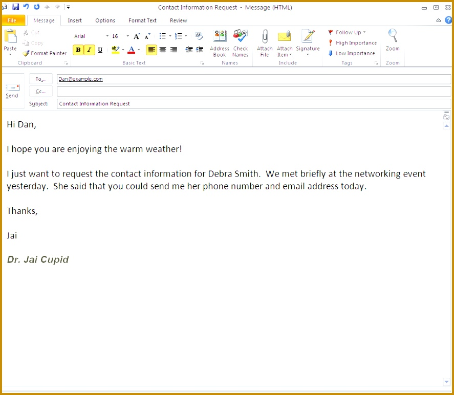 How to Write a Formal Email Example 772887