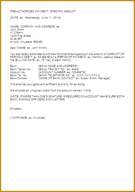 Pre Authorization Letter Sample 656461