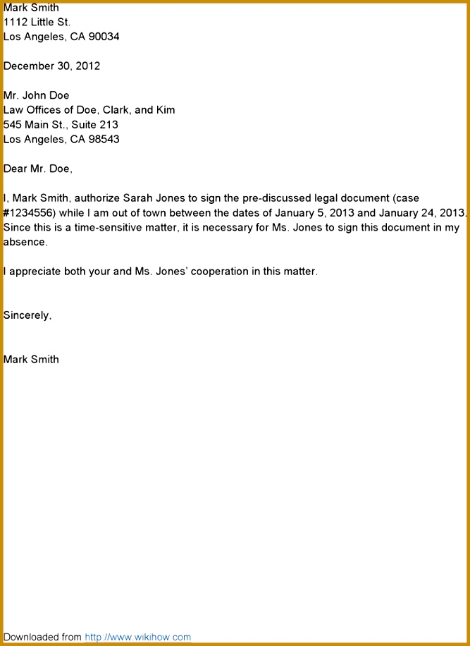 How to Write An Authorization Letter Sample Awesome 8 How to Write Authorization Letter 667916