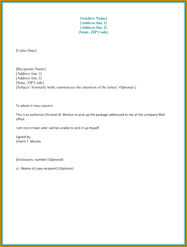 Authorization Letter Sample to Process Documents 797604
