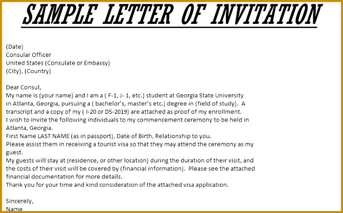 Sample Letter With Rsvp