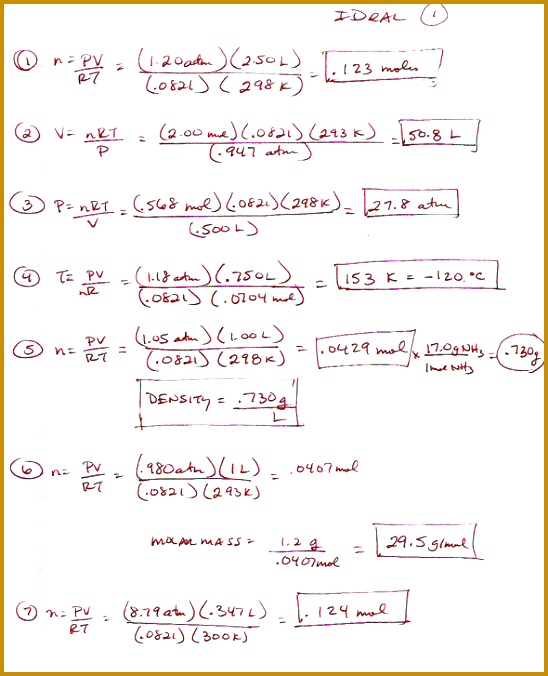 Boyles And Charles Law Worksheet Worksheets for all Download and Worksheets 676548