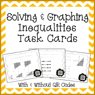 Solving & Graphing Inequalities Task Cards 325325