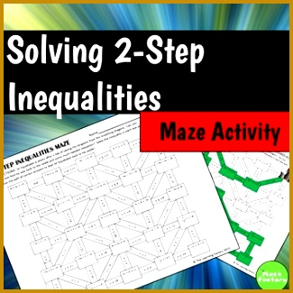 Here is a fun twist on solving two step inequalities Students must solve two 325325