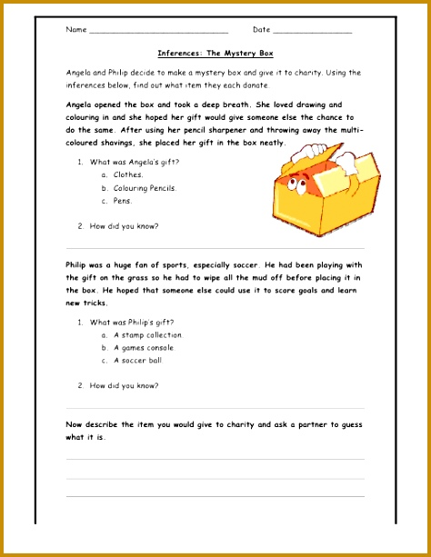 You Make The Call Inferences Worksheet 474613