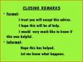 5 Informal Advice Letter Templates