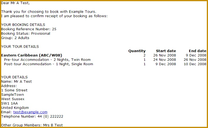9 hotel booking confirmation email sample 436706