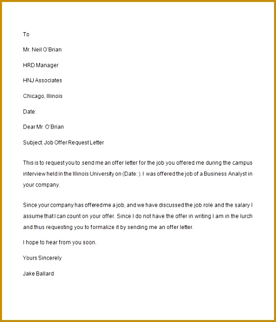 Job fer Letter Tradinghub with regard to Request For Job Confirmation Letter Sample 651558