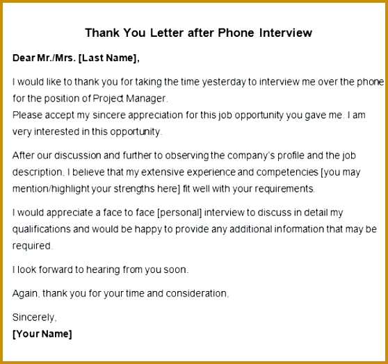 thank you letter job interview thank you letter after phone interview confirmation letter for job interview 558524