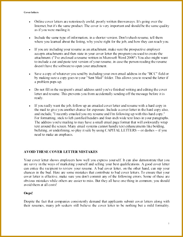 Sample E Mail Cover Notes that Introduce Resumes dummies Example Good Resume Template how 768593