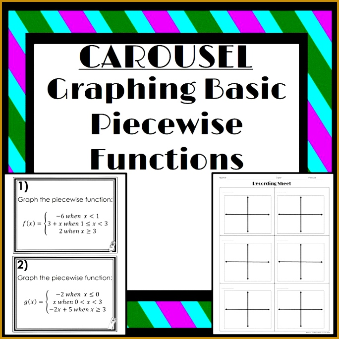 Graphing Basic Piecewise Functions carousel activity 684684