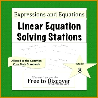 Solving Linear Equations Task Cards 325325