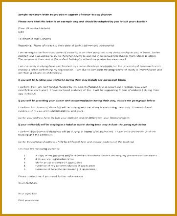Invitation Letter for Visa in PDF 441362