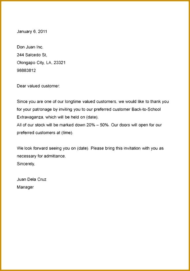 Invitation Letter Sample Template For Invitation Letter Orax 939660
