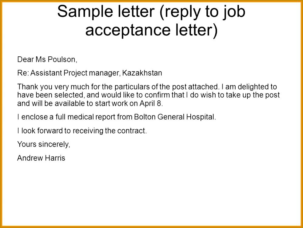 6 job confirmation letter sample
