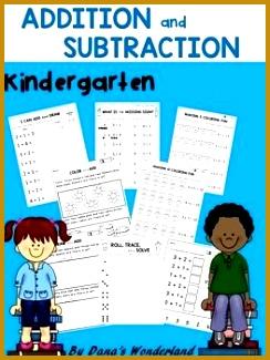 Kindergarten Addition and Subtraction Worksheets 325244
