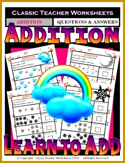 Addition Add & Write the Total Number of Objects Kindergarten 325251