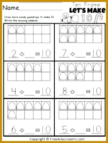 Free Let s Make 10 Gumdrop Addition worksheet for Christmas and winter holiday math Aligned to 291219