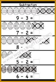 Easter Subtraction Worksheet 274186