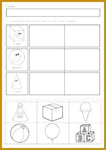 6 Kindergarten Shapes Worksheets