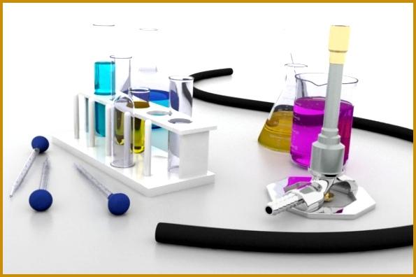 3D Model Chemistry Lab Equipment 3D Model 396595