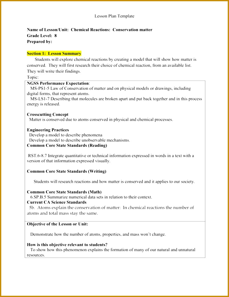 4 Law Of Conservation Of Mass Worksheet