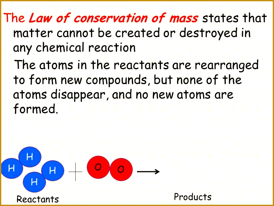 The Law of conservation of mass states that matter cannot be created or destroyed in any 669892
