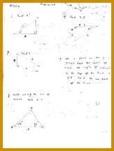 3 pages Law of Sines quiz finding x heights and angles 216164