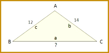 In the figure below we are given side b and angle B which opposite each other so we can use them to calculate the Law of Sines ratio s for this 183372