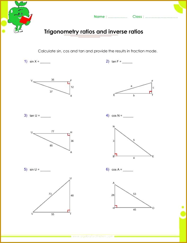 Sine Ratio Worksheet Worksheets for all Download and Worksheets 1023790