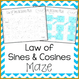 Law of Sines and Law of Cosines Maze 325325