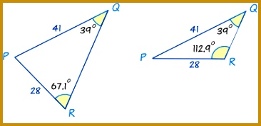 trig sine rule two angles example 366178