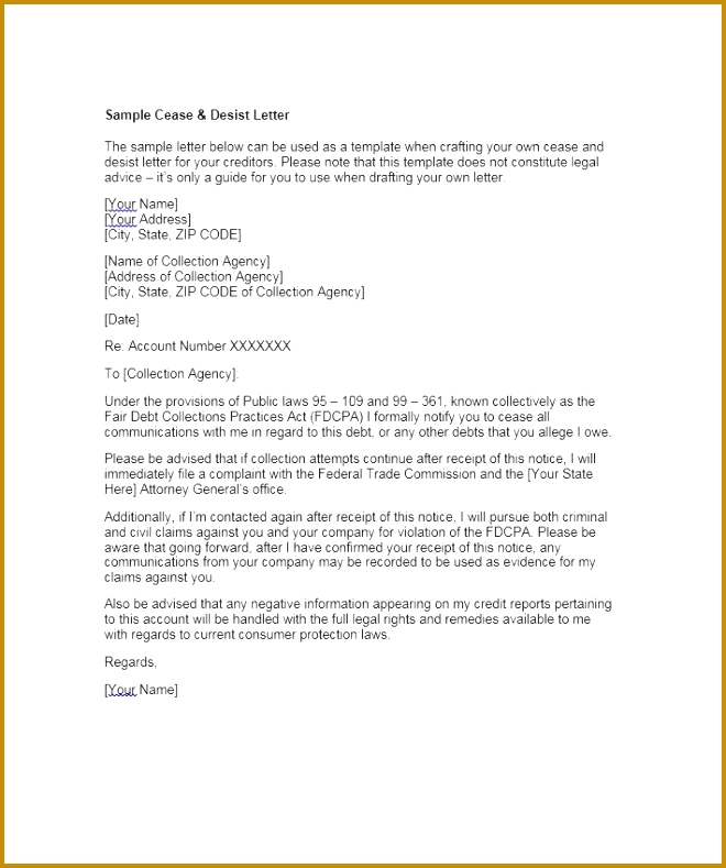 Legal Advice Letter Template 27762 30 Cease and Desist Letter Templates Free Template Lab
