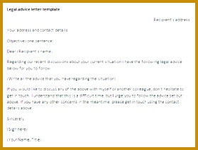 Letter of advice for a legal situation template 212279