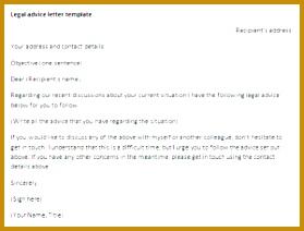 Legal Advice Letter Template 74973 Legal Advice Letter Template