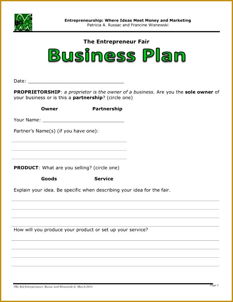 5 Lemonade Stand Business Plan Template Fabtemplatez