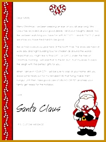 Free Santa Letter Templates Downloads 219292