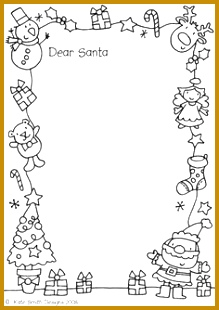 Simple Letters From Santa Template for Your Letter to Santa Hdwpro 310219