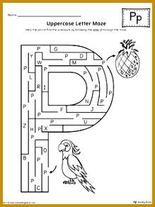 Uppercase Letter P Maze Worksheet 219292