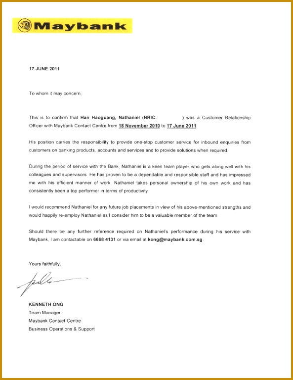 Letter of mendation Maybank Kenneth g 768593