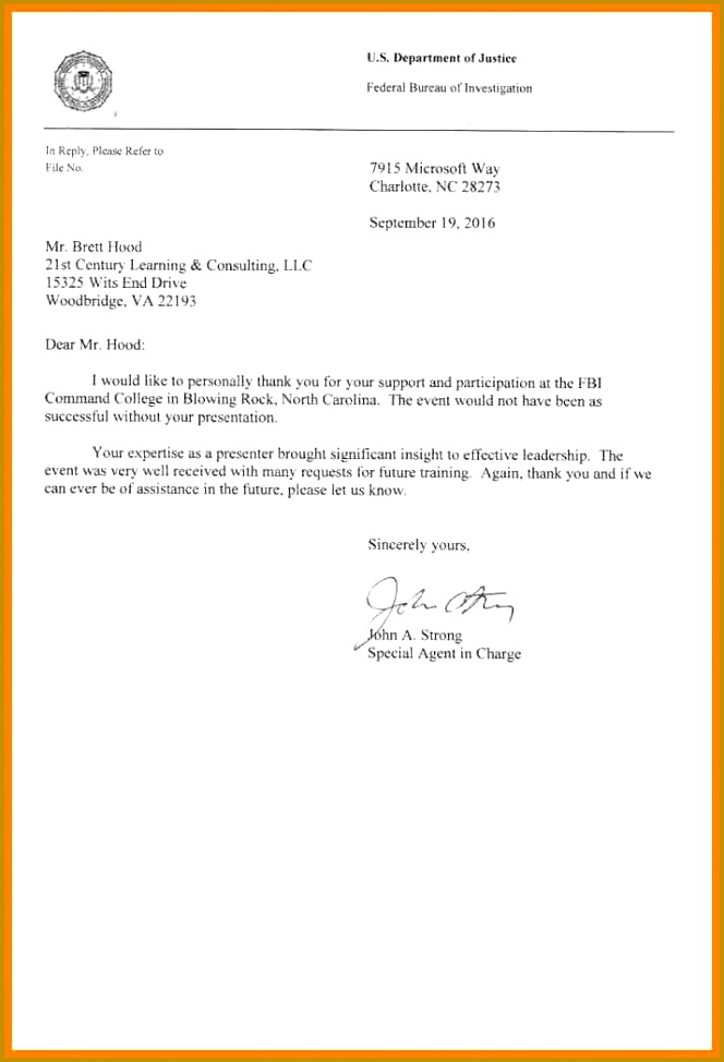 letter of mendation FBI Letter of mendation e 690—1024 caption 664974