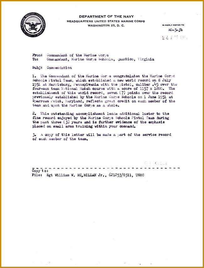 Letter of mendation Return Document 854651