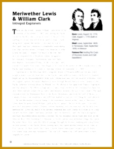 This mini biography will take your students on a fascinating voyage with Lewis & Clark as they made their way from Missouri to what is now the state of 293225