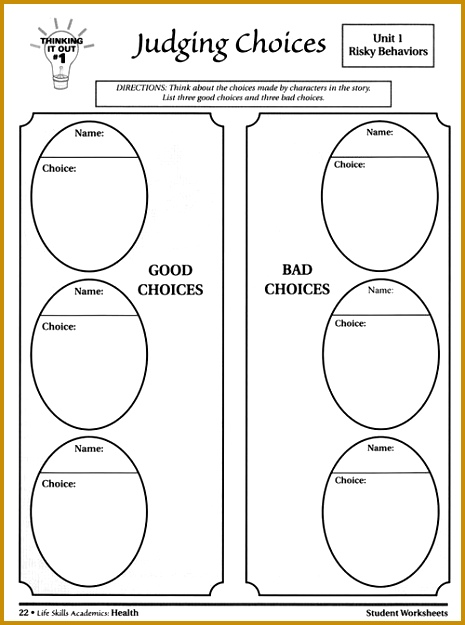 life skills worksheet pdf Google Search 625465